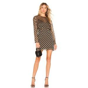 ASTR the Label Black Gold Dot Dress